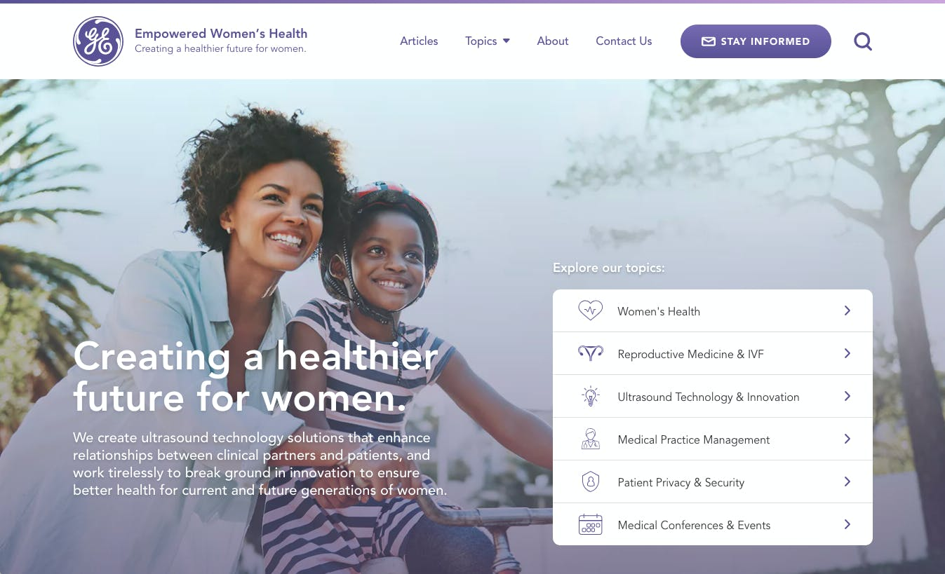 GE Healthcare - Empowered Women's Health