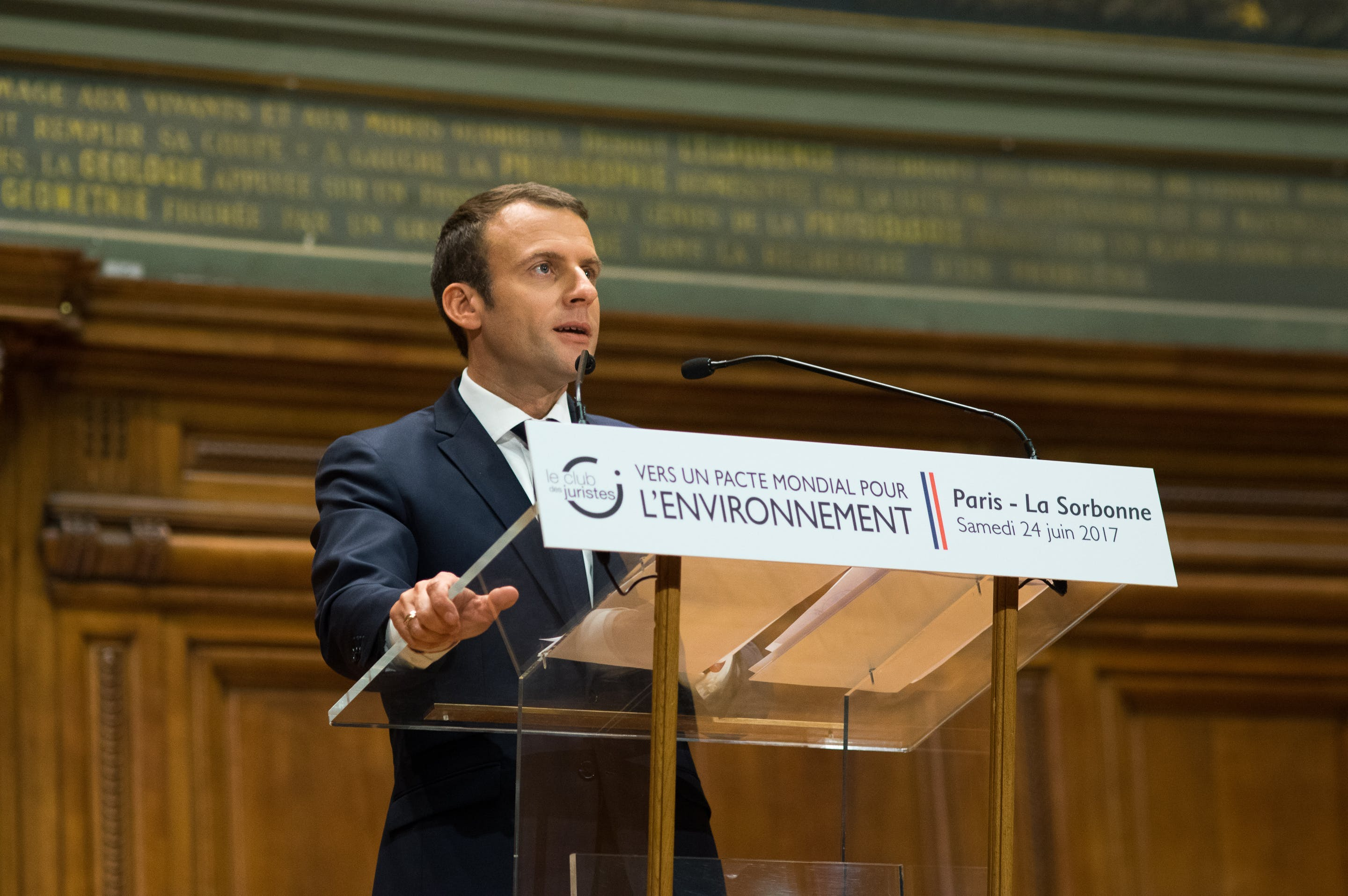 President Macron announces Global Pact for the Environment