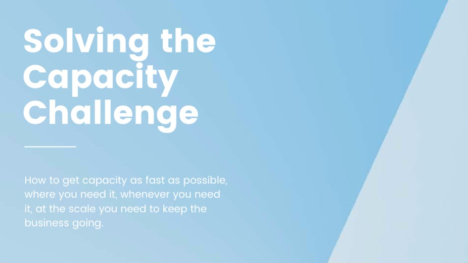 Whitepaper: Solving the Capacity Challenge