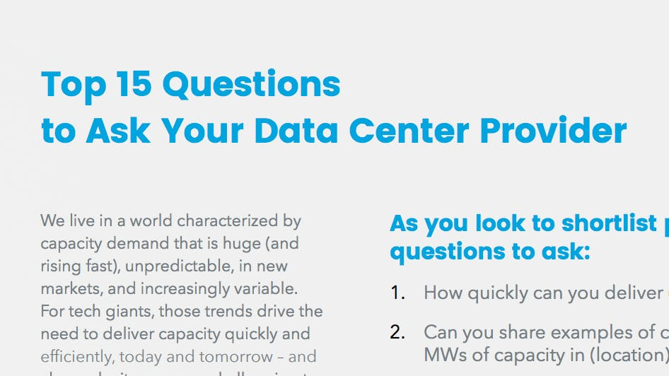 15 Questions to Ask Your Data Center Provider