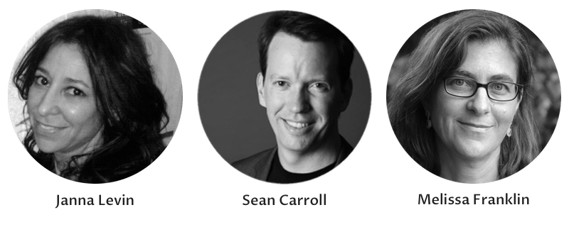 These three scientists participated in a conversation about dark matter.